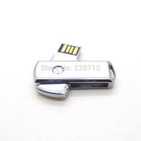 Wholesale 50pcs/lot New 2014 hot sell Metal swivel 8GB 16GB 32GB 64GB Usb 2.0 usb Flash Drive pen drive memory stick Waterproof