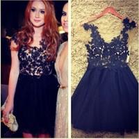 014 hot star black lace sleeveless dress bandage mini bodycon dress frozen dress elsa dress