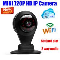 1mp Mini IP Camera wireless wifi video surveillance 720P HD IR Night Network security cctv camera SD/Micro/TF Card slot audio