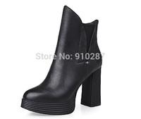 2014 female Martin genuine leather autumn single thick heel boots women's platform high-heeled platform boots wholesales