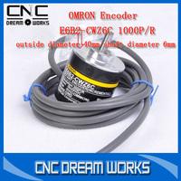 OMRON Encoder Rotary Encoder E6B2-CWZ6C 1000P/R Incremental encoder ABZ  40mm 6mm 1050185D