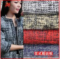 2014 new winter warm clothing fabrics soft Fashion fancy coat jacket  fabrics 100 *150cm