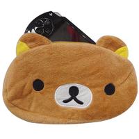 Cute Funny Rilakkuma Soft With Zipper Pencil Pouch Cosmetic Bag Coin Purse Free Shipping