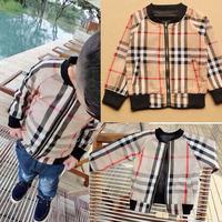 2014 Classic brand New children outerwear autumn winter Baby boys Jacket plaid overcoat bebe roupas kids fashion coat 345A
