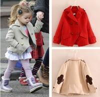 2014 new Autumn winter fashion Children wind coat girl's jacket outwear kids thick wind coat children jacket coat  FF131