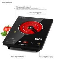 SKG Electric Ceramic Furnace Food Prepare Kitchen Radiant-Cooker TL1622 UK/DE Plug