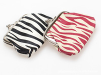 Hot explosion models zebra stripes stock clasp coin purse bag  wedding gifts