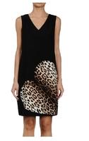 XS-XXL 2014 New Dress Fashion Leopard Print Heart Decoration Slim One-piece  Exquisite Sleeveless Formal  Step  Tank Dress