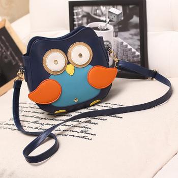 Бесплатная доставка 2014 новинка женщины кожаная сумка мультфильм мешок сова лиса плечо сумки женщины сумку 32