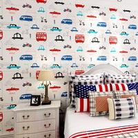 Eco-friendly t non-woven wallpaper child room wallpaper cartoon car boy child wallpaper
