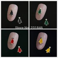 30pcs 7X4MM Xmas Tree Star 3D Salon Acrylic Nail Art Tips Craft DIY Design Cellphone Case Laptop Decoration Tool Gift Manicure