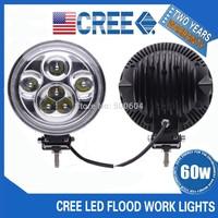 60W CREE Led work light 12v-24v 7 inch Led Offroads Fog light spot head light lamp for 4x4 ATV SUV Truck daytime driving working
