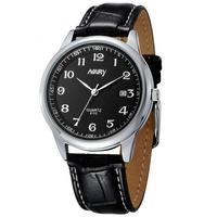 Holiday Promotional Brand Nary Fashion Men Clock Table Watch Men Dress Wristwatch Leather Calendar Watch Relogio Masculino 6113