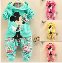2014 new fashion Spring Autumn baby girls Sport suit set long sleeve children hoodies+pants clothes sets kids 2 pcs clothing set(China (Mainland))
