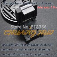 Clamshell QFN24 DFN24 MLF24 WSON24 test socket   Pitch=0.5mm Size=4mmX4mm