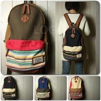 Popular Navy Stripe Pattern Backpack Travel Sport Rucksack Satchel School Bag for first service