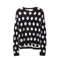 2014 autumn new 2 piece set women irregular dots long sleeved round neck sweater and skirt casual skirts womens