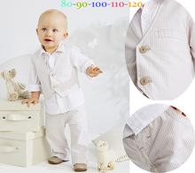 The new autumn kids children vest three piece set of children's South Korea infant clothing suit for children 100% Cotton(China (Mainland))