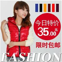 2014 Female New Fashion Plus Size Slim Down Waistcoat Winter Sleeveless Jacket Women Vest
