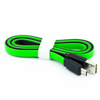 1M Flat TPE Micro 5 Pin USB Data Charger Cable for Samsung HTC Blackberry Green