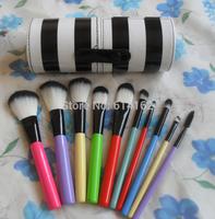 2 pcs FREE SHIPPING MAKEUP 10 brush set