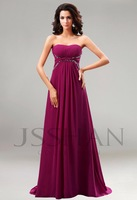 2014 New In Stock A-Line Floor-Length Scalloped Off the Shoulder Beading Bridesmaid Dresses  Ruching Bridesmaid Dresses For Sale