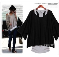 New Spring Autumn summer women basic shirt Perspective Korean fashion shirt with free vest N3167