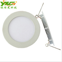 Aluminum round ceiling lighting fixture 6W 2835 SMD 110V 220V Ceiling spot panel light warm white Free shipping
