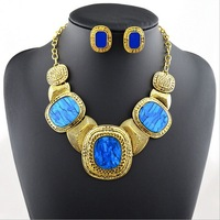 2014  new  European and American fashion exaggerated luxury big gemstone necklace  A468