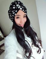 2015 designed girls 100% cotton star print head turban head wrap