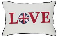 New UK Flag Love White Red Country Style Fashion Art Decorative Car Sofa Home Lumbar Pillow Case Cushion Cover Throw Sham