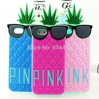 Victoria/s Secret PINK Case 3D Silicone Fruit Pineapple Star's Love Soft Cover for Apple iPhone 6 Case Capa Celular K20288