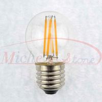 New Design Edison G45 4W Glass Warm White LED Bulb Lamp E27 Energy Saving Light 200V-240V Free Shipping 5pcs/lot