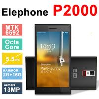 "Original Elephone P2000 P2000C MTK6592 Octa Core Android 4.4 5.5""1920*720 2GB RAM 16GB ROM 13MP Camera 3G GPS OTG NFC Cell Phone"