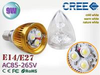 1pcs/lot Ultra Bright led candle light CREE Chip 9W 12W 15W led spotlight led bulb 85-265V 110V 220V E14 E27 E12 led lamps