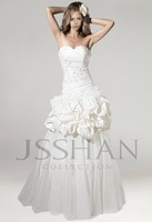 Strapless Sweetheart Neckline A-Line Silhouette Beaded Applique  Pick-Ups  Tulle Skirt Ivory Bridal Wedding Dress