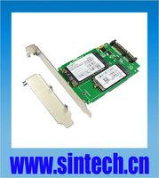 Sintech NGFF M.2 B+M Key SATA or mSATA SSD to SATA 3 Adapter card with bracket