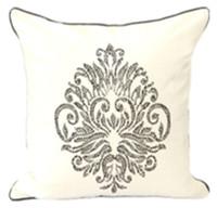 Retro White Vintage Luxury Crystal Diamond Embedded Fashion Art Classic Decorative Car Sofa Pillow Case Cushion Cover Throw Sham