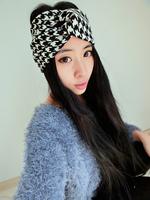 3 colors 2015 designed girls plaid headband
