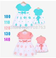 5pcs/Lot ,Baby Girl Dressing Flower Bow Dresses For 2-7 Year Kids,J294