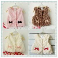 New Autumn And Winter Baby Waistcoat Boys&Girls Fashion Warm Vest  kids Toddler Imitation Fur Outwear Coat  Drop shipping