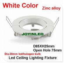 5 pcs teto LED suporte da lâmpada GU10 / MR16 aparelho de iluminação halógena spot lâmpada rodada círculo de alumínio montagem white color finish(China (Mainland))