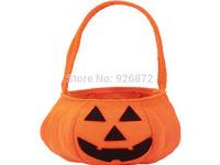 Halloween Decoration Supplies Halloween Pumpkin Bags Child Pumpkin Smiley Bags Pumpkin Decoration free shipping 5pcs