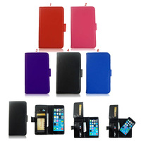 Cellphone Leather Case For Iphone 6 plus 5.5inch Card Slot Wallet Photo Case