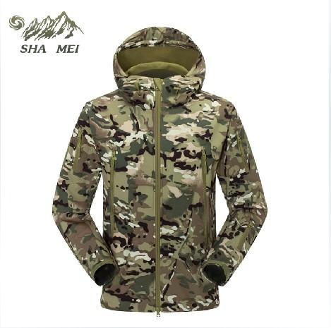 de lã no exterior casca mole roupas masculino camuflagem única camada revestimento exterior twinset três- amantes design(China (Mainland))