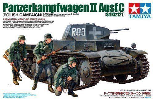Tamiya 1/35 35299 German Panzerkampfwagen II Ausf.C (Sd.Kfz.121), Polish Campaign Plastic Model Kit Free Shipping(China (Mainland))