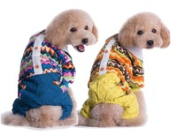 New sales Christmas  Contrast yellow/blue color wave pattern dog cat warm cloth