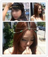 Celebrity Lady Tassel Metal Head Chain Headpiece BOHO Band Hair Headband Jewelry