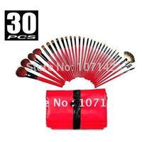 012 Sale 30PCS Makeup Brushes Cosmetic Brush Sets 30PCS Pro Red&Black Deluxe Mineral Make Up Brush&Bag Set High-quality