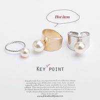 2 pieces 1 lot Hot Item !!! Shiny Punk Polish Gold Stack Plain Band Midi Mid Pearl Knuckle Ring Set Rock 2 colors